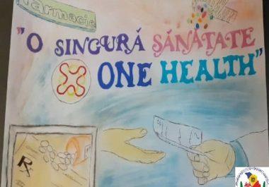 """Concursul caricaturilor cu genericul """"One health-O singură sănătate"""""""
